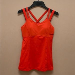 Lululemon 3 Red Tanks 8s